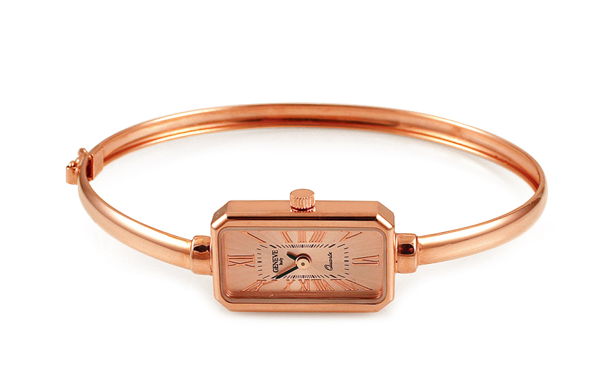 Dámské obručové hodinky z červeného zlata Geneve IZ6989R