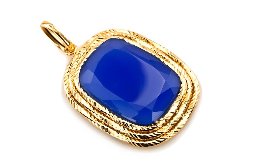 Dámský přívěsek s achátu ve zlatě IZ5175