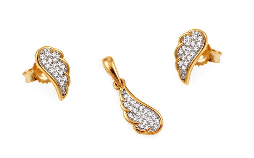 Diamantová souprava andělská křídla KU425S
