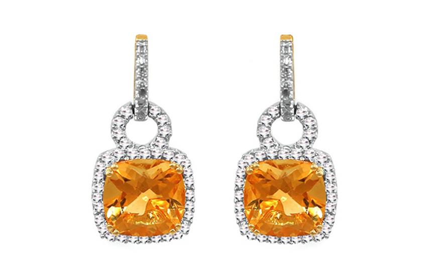 Diamantové náušnice 0,080 ct Yellow Love KU288N