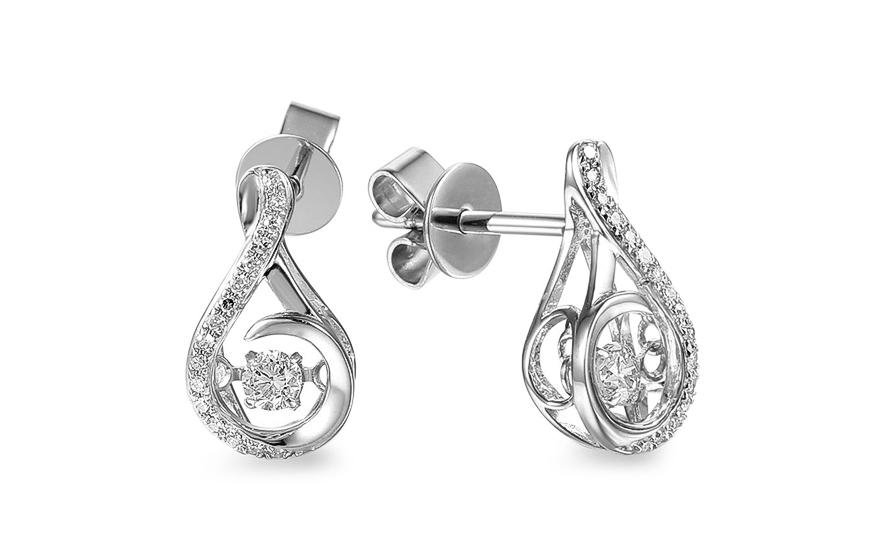 83a88e2fe Diamantové náušnice z bílého zlata 0,190 ct Dancing Diamonds - IZBR555AN