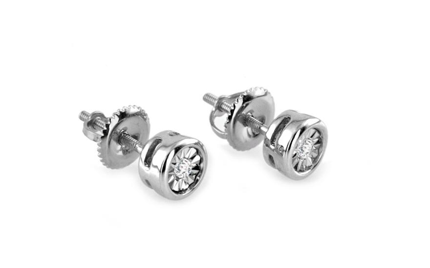 Diamantové náušnice z bílého zlata K9U0072AN