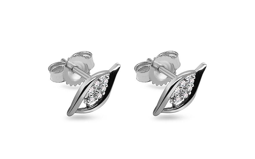 Diamantové náušnice z bílého zlata KU431AN
