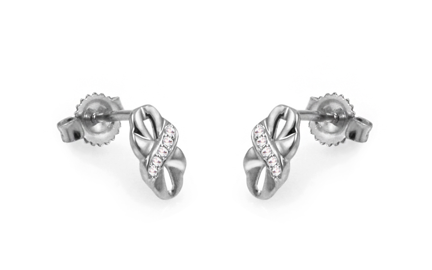 Diamantové náušnice z bílého zlata KU422A