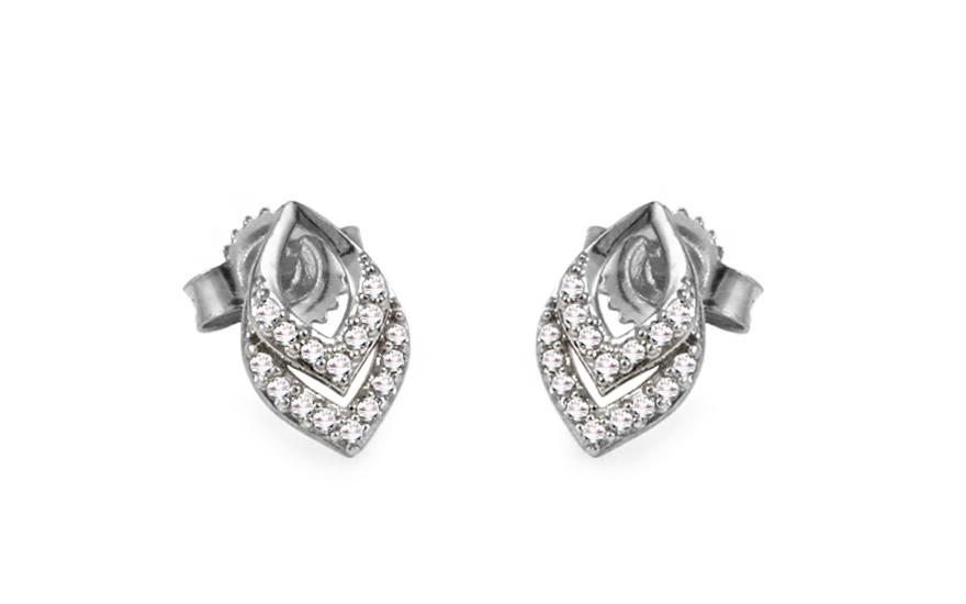 Diamantové náušnice z bílého zlata KU421N