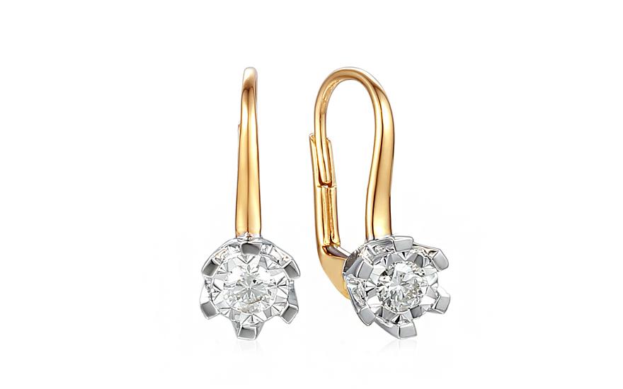 0e342423e Diamantové náušnice z kombinovaného zlata 0.370 ct Adalia 3 - IZBR107NL