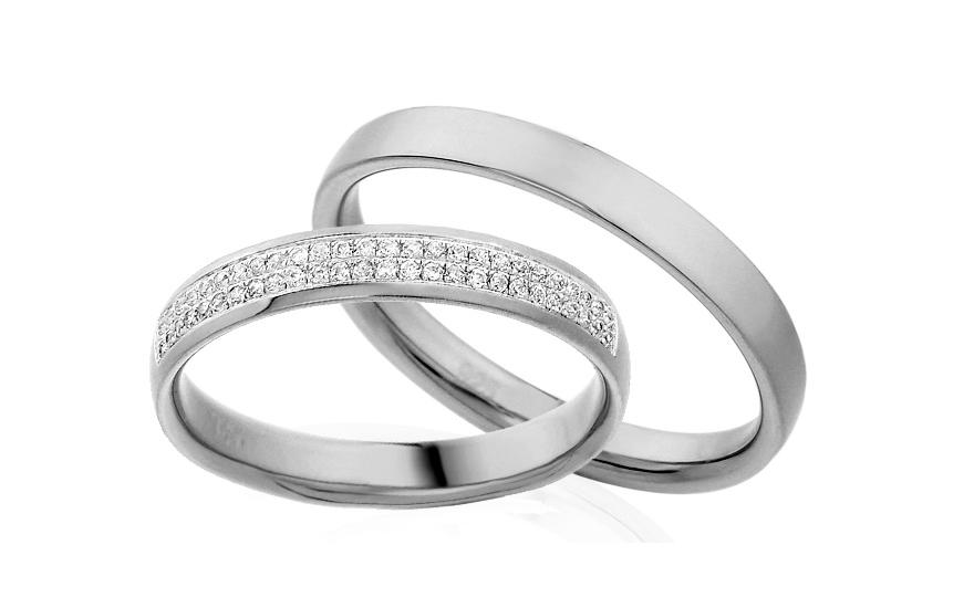 Diamantové snubní prstýnky 0,130 ct Yasmine diamonds 3,5 mm IZOBBR008A