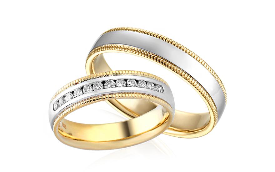 Diamantové snubní prstýnky 0,240 ct Yasmine diamonds 4,5 mm IZOBBR010AY