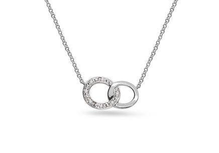 0c977e667 Briliantový náhrdelník z bílého zlata s kroužky 0.020 ct ...