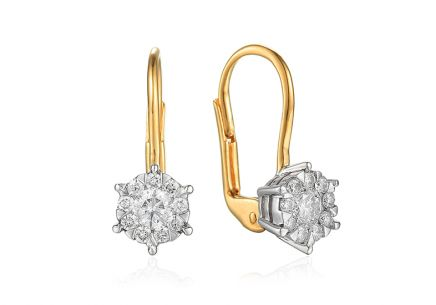 ac20ead3b Zlaté briliantové náušnice 0,500 ct ...