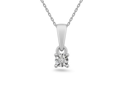 Diamantový přívěšek 0.160 ct Estelle middle white