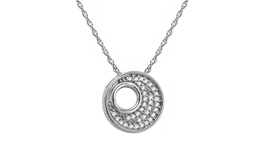 Diamantový náhrdelník z bílého zlata KU464A