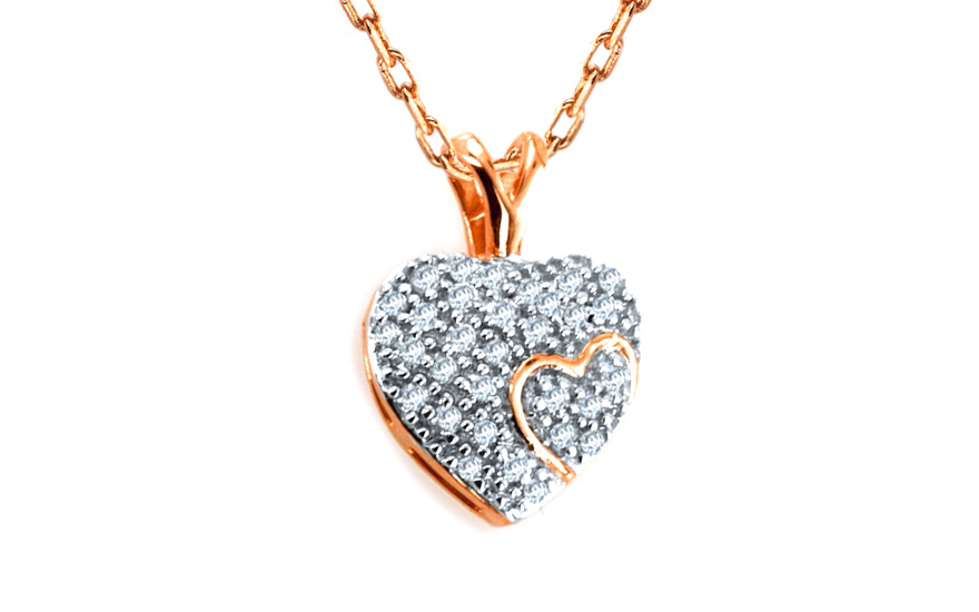 Diamantový přívěsek Magic Heart 0,150 ct KU175