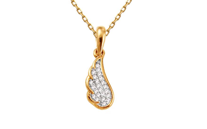 Diamantový přívěsek andělská křídla KU425P