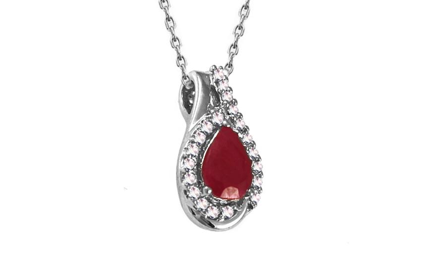 Diamantový přívěsek s rubínem 0,100 ct Relisia KU299P