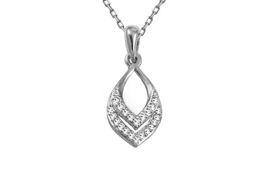Diamantový přívěsek z bílého zlata KU421AP