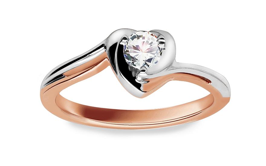 Zásnubní prsten s diamantem 0,160 ct Etos 1 KU184