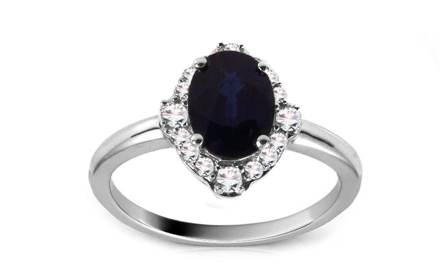 Diamantový prsten se safírem KU389A