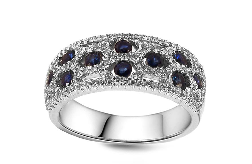 Diamantový prsten se safíry Valentina 21bb32e9987
