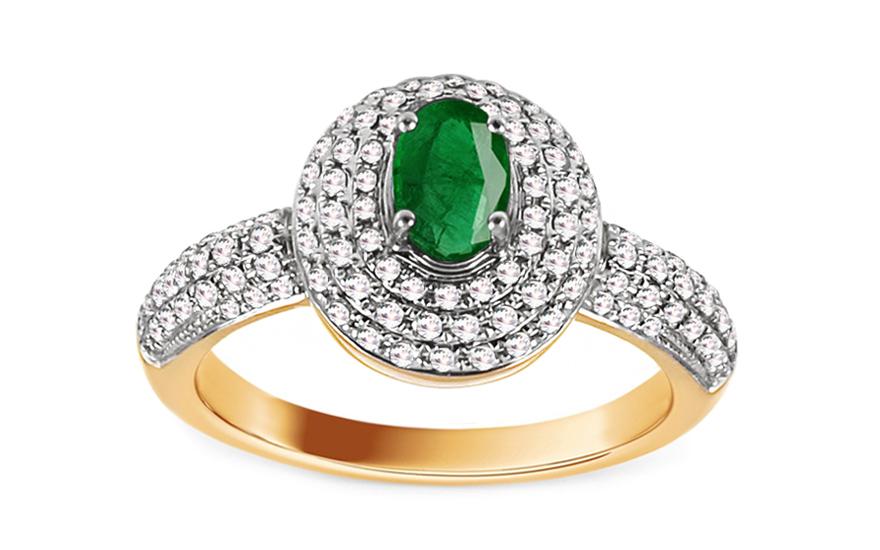 Diamantový prsten se smaragdem Alaina KU548