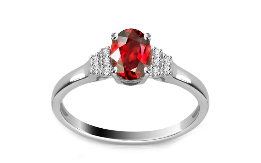 Diamantový prsten 0,050 ct Victorian red Ellipse DM012APR