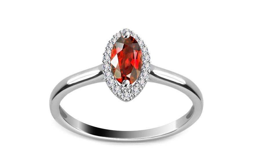 Diamantový prsten 0,080 ct Victorian red Eye DM015APR