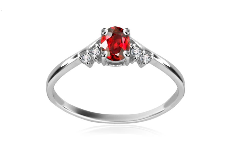 Diamantový prsten 0,040 ct Victorian red Nice DM033A