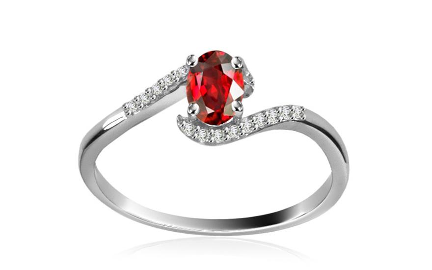 Diamantový prsten 0,072 ct Victorian red Tear DM009APR