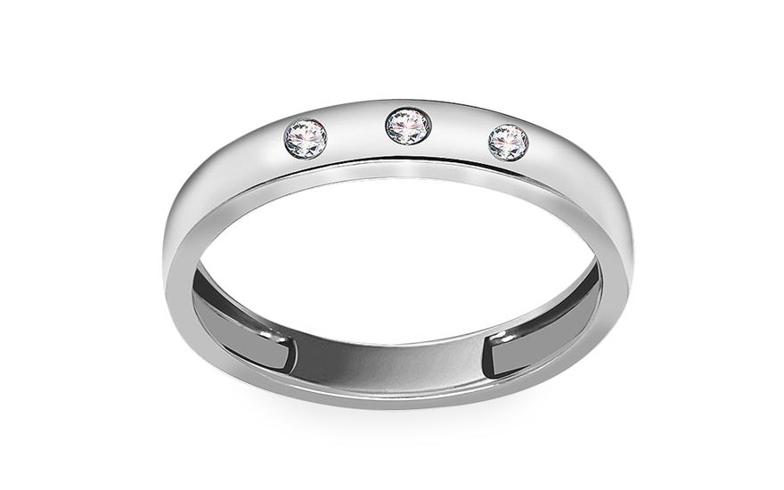 Diamantový prsten z bílého zlata KU516A