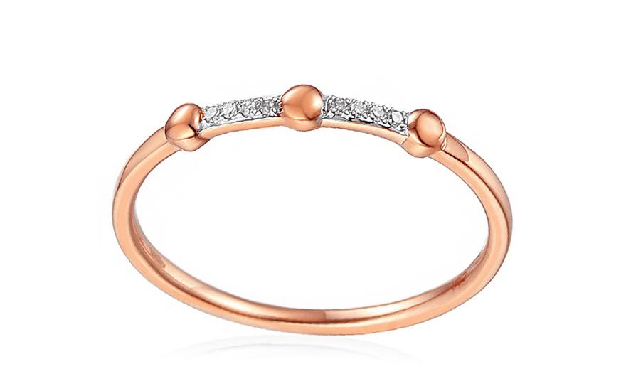 Diamantový prsten z červeného zlata IZBR265R
