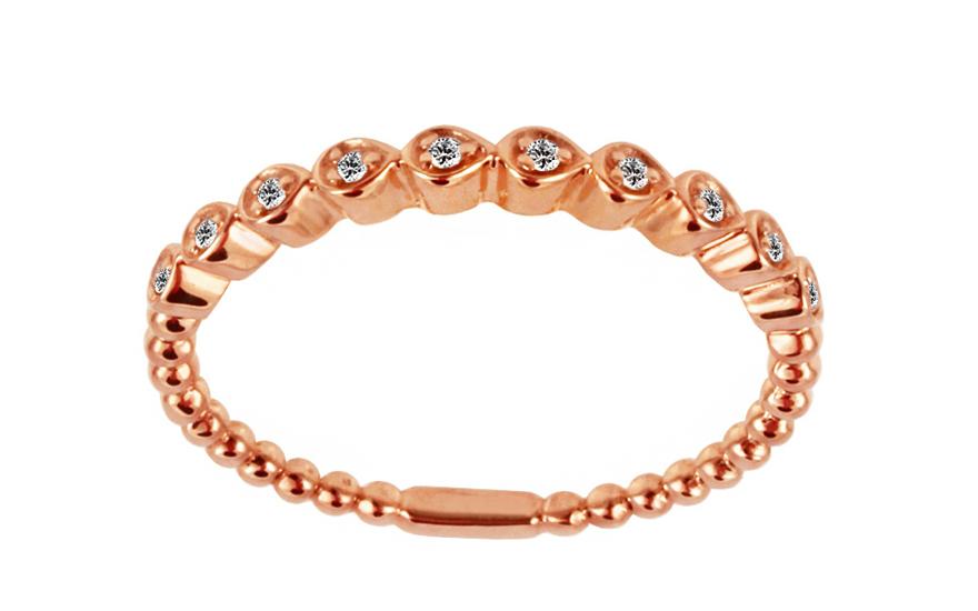 Diamantový prsten z červeného zlata IZBR234R