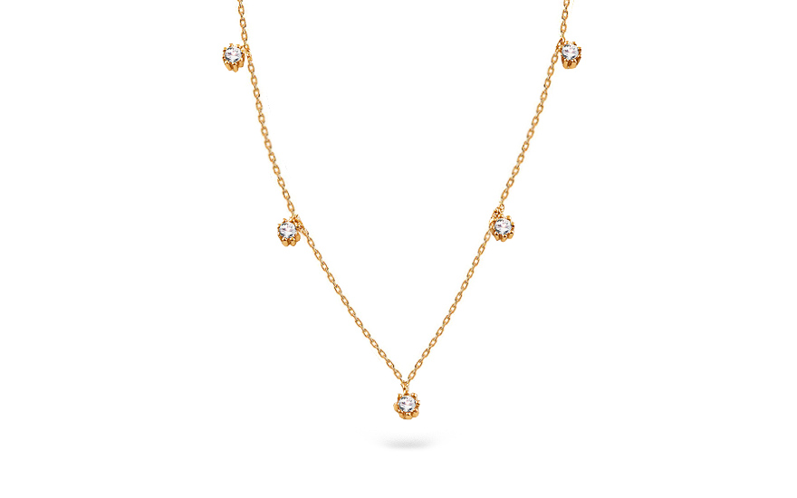 a0d9916fe Elegantní zlatý náhrdelník s přívěsky, pro ženy (IZ16699) | iZlato24.cz