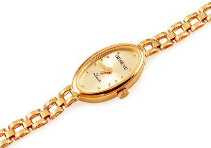551f3c5e656 Zlaté dámské hodinky Geneve