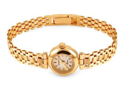 Zlaté dámské hodinky Geneve ... 519bc3710a8