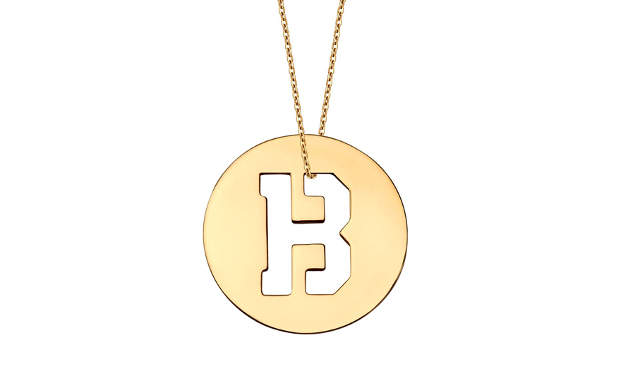 Iniciála - zlatý přívěsek písmeno B IZ10998