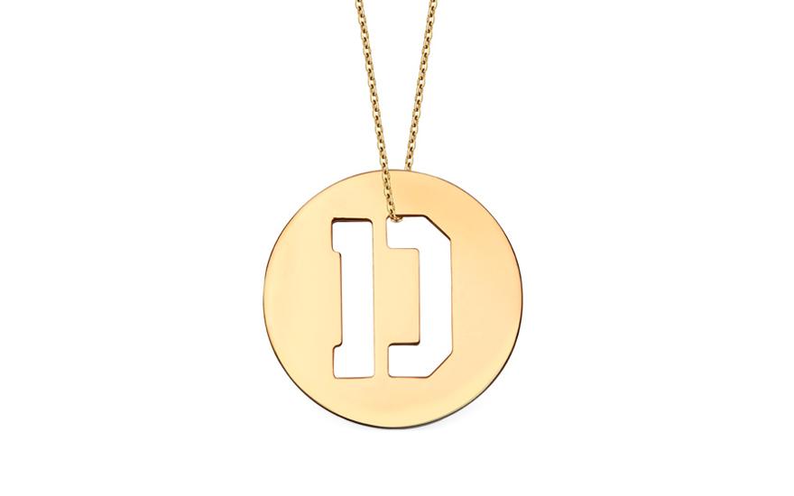 Iniciála - zlatý přívěsek písmeno D IZ11000