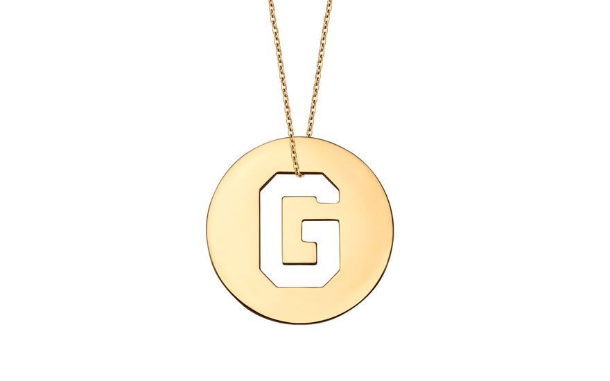 Iniciála - zlatý přívěsek písmeno G IZ11003