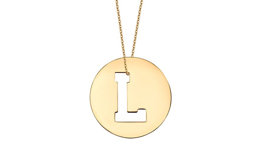 Iniciála - zlatý přívěsek písmeno L IZ11008