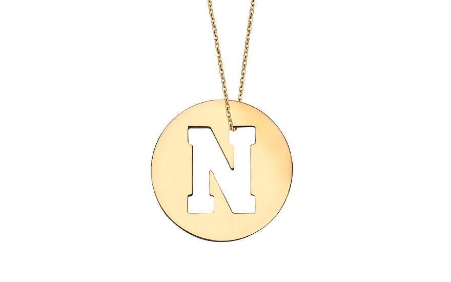 Iniciála - zlatý přívěsek písmeno N IZ11010
