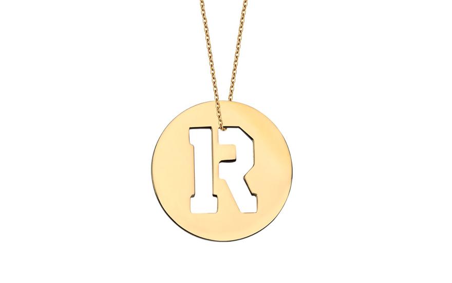 Iniciála - zlatý přívěsek písmeno R IZ11013