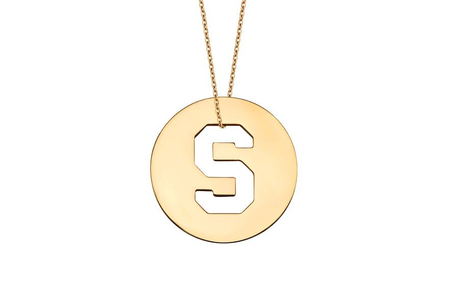 Iniciála - zlatý přívěsek písmeno S IZ11014