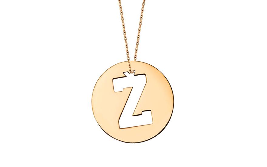Iniciála - zlatý přívěsek písmeno Ž IZ11018
