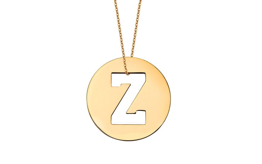 Iniciála - zlatý přívěsek písmeno Z IZ11017