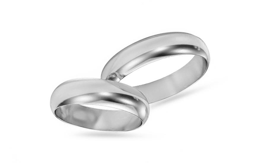 Klasické bílé snubní prstýnky 5 mm STOB10003A