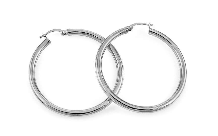 Kruhy z bílého zlata IZ7852