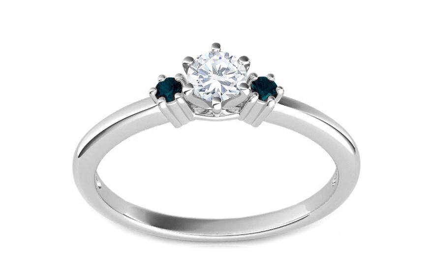 Zásnubní prsten s 0,260 ct diamanty Blue Diamond KU107