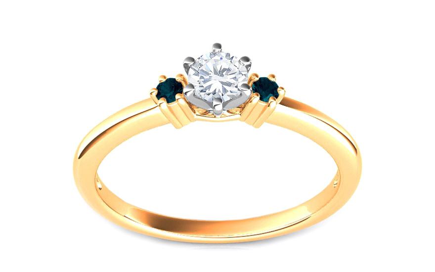 Zásnubní prsten s 0,260 ct diamanty Blue Diamond KU107Y