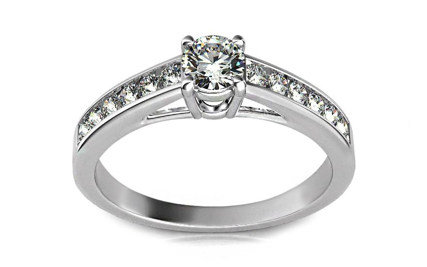 Luxusní zásnubní prsten s diamantem 0,500 ct Ardiente KU0005W