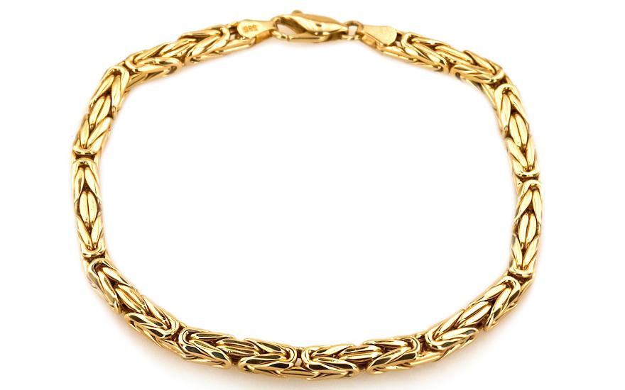 Luxusní zlatý pánský náramek plný Byzantine IZ4759