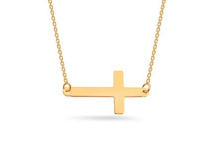 Zlatý náhrdelník s křížkem ... 0f6ca4b82d2